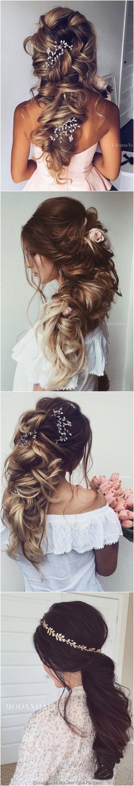 Ulyana Aster Long Wedding Hairstyles & Updos / http://www.deerpearlflowers.com/romantic-bridal-wedding-hairstyles/ #weddinghairstyles