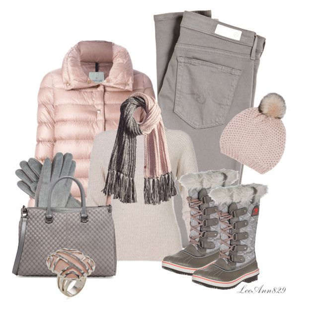 """""""duck boots for winter"""" by leeann829 ❤ liked on Polyvore featuring AG Adriano Goldschmied, Moncler, Oasis, Dents, SOREL, Charles Jourdan, Bickley + MItchell and Di Modolo"""
