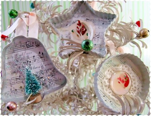 Alyssabeths Урожай: Создание рождественские Блеск Chic Vintage Простые украшения