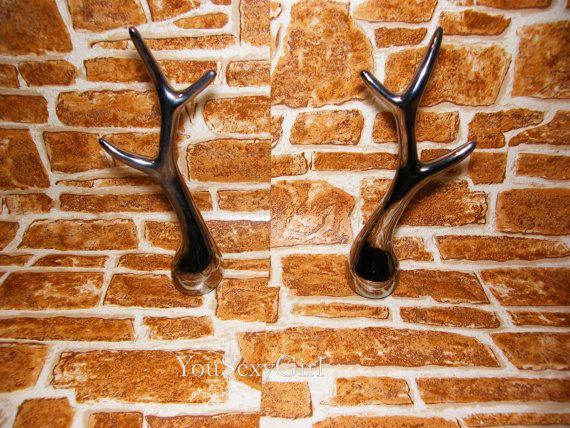 Silver Rings Holders set of 2 holders reindeer horns