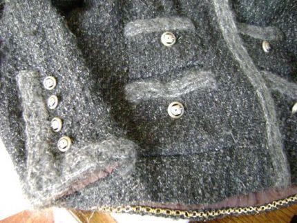 Hand crocheted trim