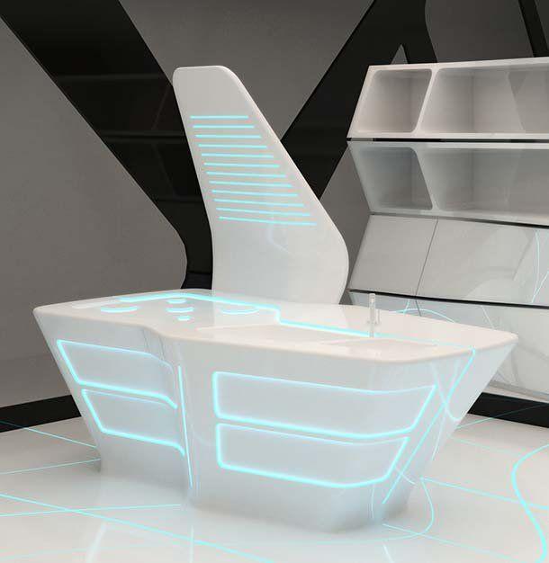 Cucina Futuristica Tron(di Ernestomeda) · Futuristisches DesignIdeen Für  Die Küche