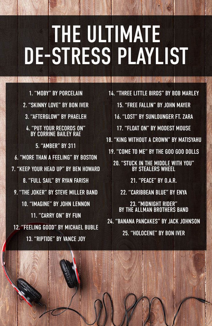 The Ultimate De-Stress Playlist - Perfect for finals!