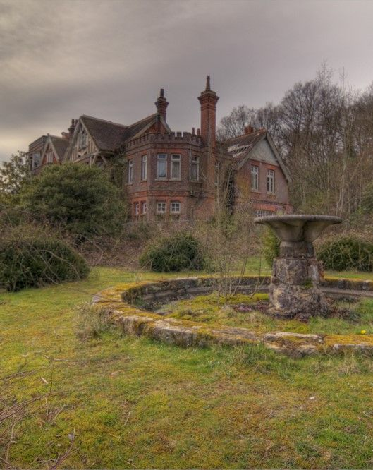 garden view of the abandoned Potter's mansion; Europe