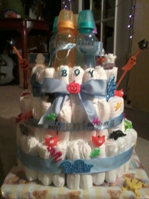 Halloween Baby Shower Theme Diaper Cake