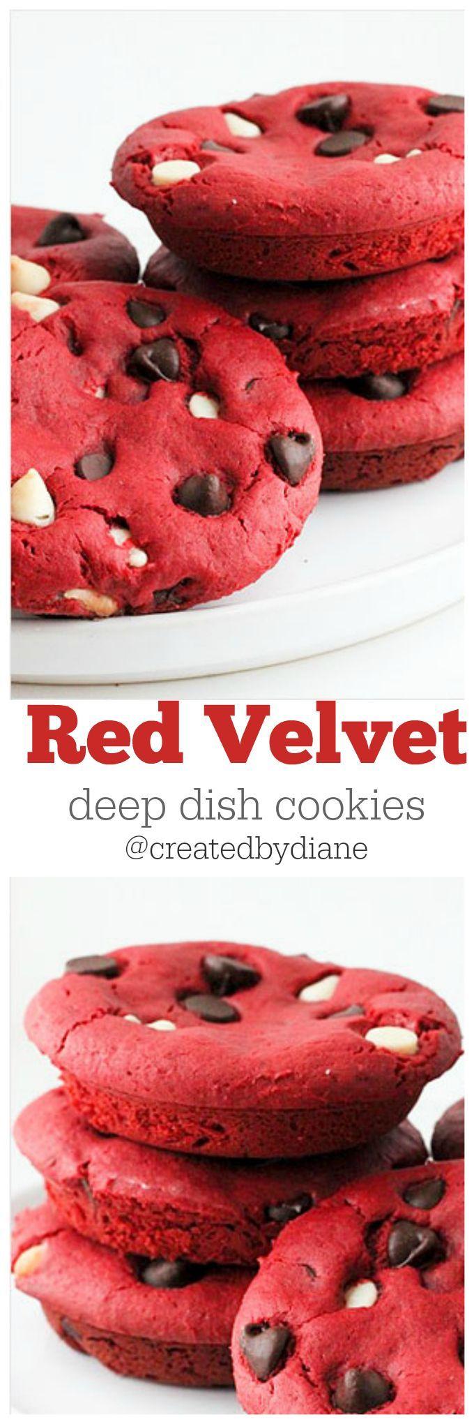 red velvet deep dish cookies @createdbydiane
