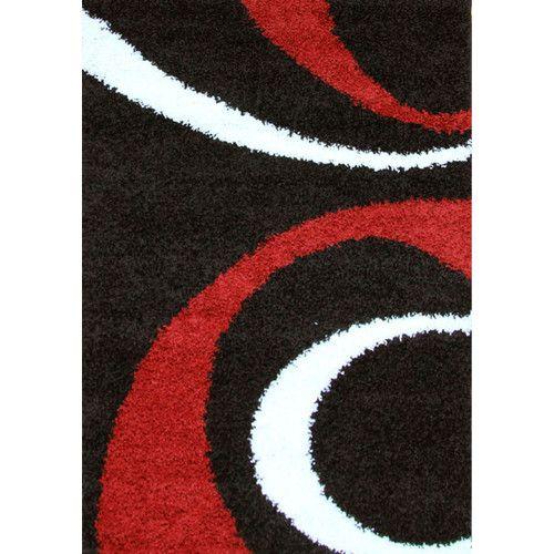 network rugs piccolo ezio blackred shag rug