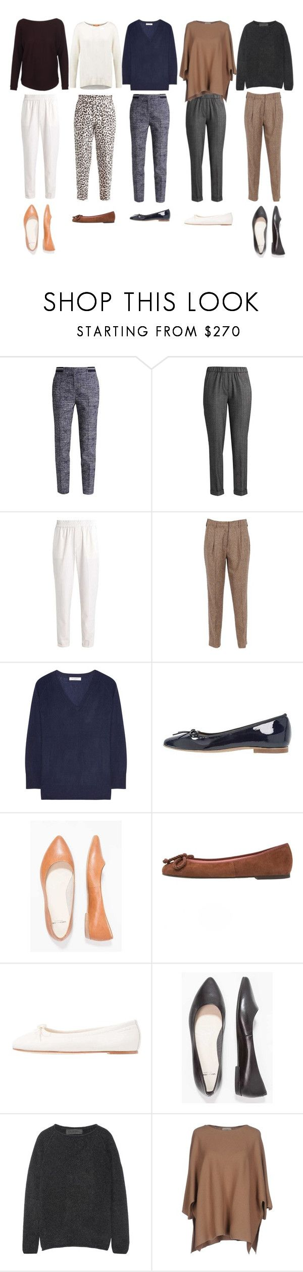 """Work wear - trousers, jumpers and flats"" by arcticjasmine on Polyvore featuring InWear, Etro, Equipment, BOSS Orange, Pretty Ballerinas, The Elder Statesman and Bruno Manetti"