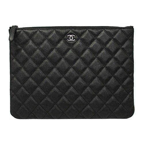 81eee182feb9 SALE PRICE -  1620 - CHANEL BLACK CAVIAR LEATHER CLUTCH BAG A82545 POUCH