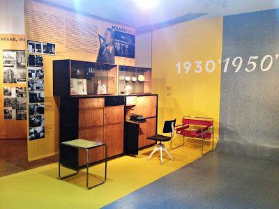 Breuer újra itthon Budapesten: az Iparművészeti Múzeum és az Építészeti Múzeum közös kiállítása Molnár Farkas szoba belsője
