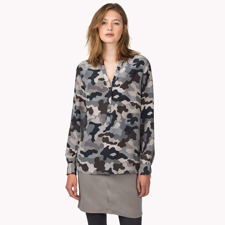 Tommy Hilfiger Leiko Camo Print Silk Shirt, £120