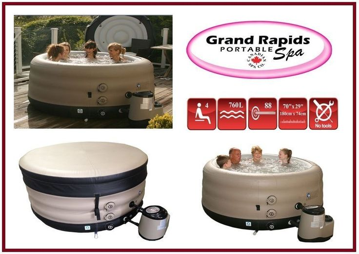 Grand Rapids Hot Tub *** Extra Deep *** 4 Person Inflatable Portable Spa in Spas & Hot Tubs | eBay