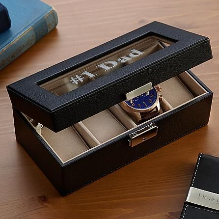 Mini Leather Watch Box and other at PersonalCreations.com