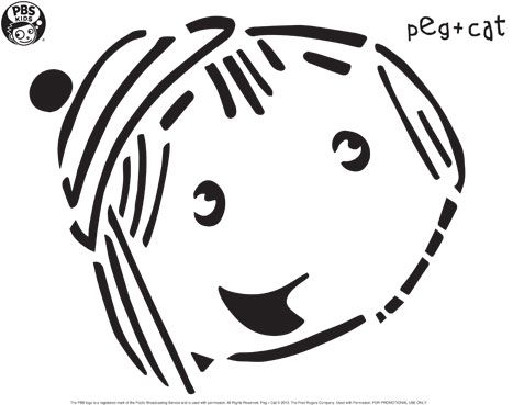 Peg of Peg + Cat Pumpkin Carving Template