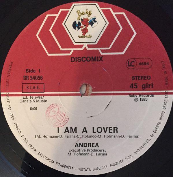 Andrea I Am A Lover Vinyl 12 Italo Disco Disco Music Vinyl