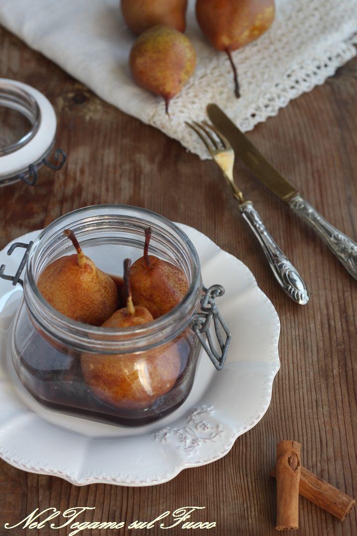 PERE COTTE AL VINO E SPEZIE, IN #vasocottura, pronte in sei minuti e molto aromatiche!