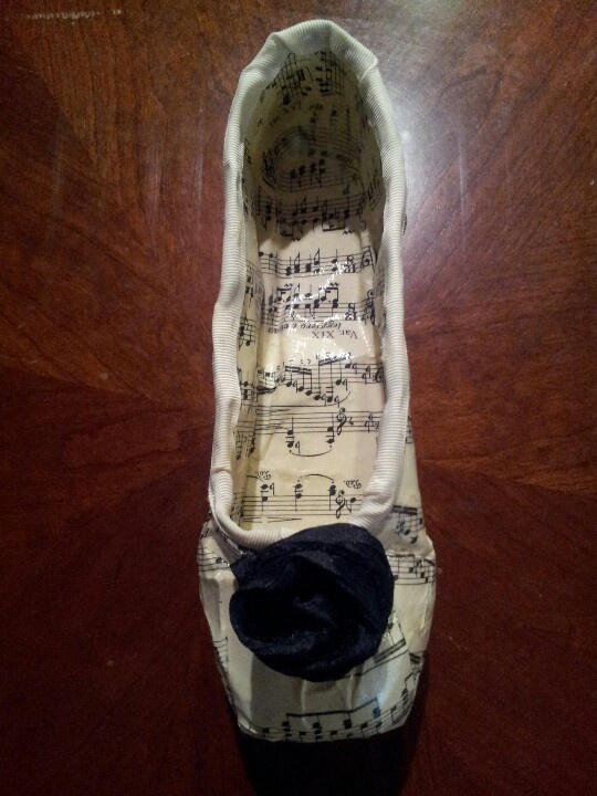 Decorated pointe shoe for The Georgia Ballet