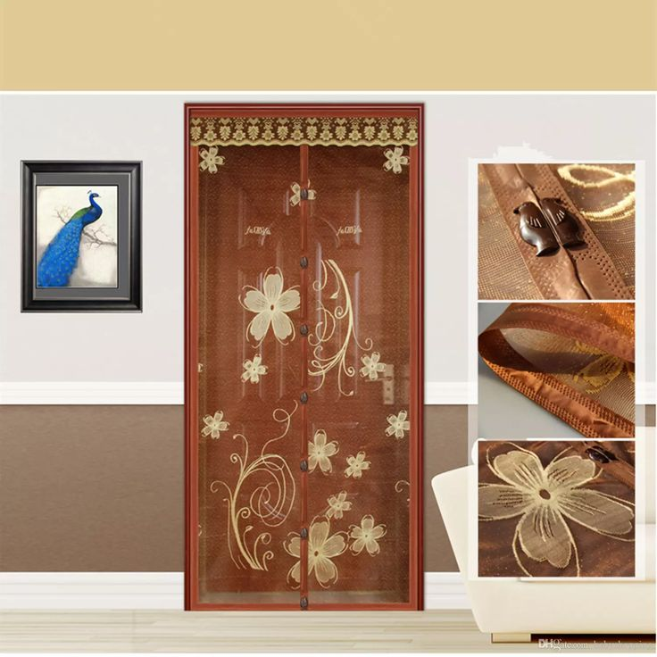 Fuya New Top Quality Hands Free Brown Magnetic Door Screen Mosquito Net Magnetic Sheer Curtains Magic Sheer Mesh Curtain Finials Light Curtains From Babyshopping, $11.56| Dhgate.Com