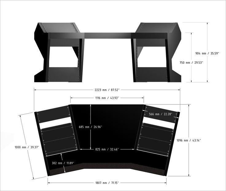 duodesk key 60 unterlass studiombel studio deskhome studiorecording studio designsound - Home Studio Desk Design