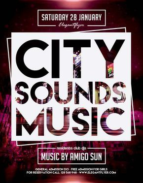 City Sounds Music Free Flyer Template – freepsdflyer.com/… Enjoy downloading t…
