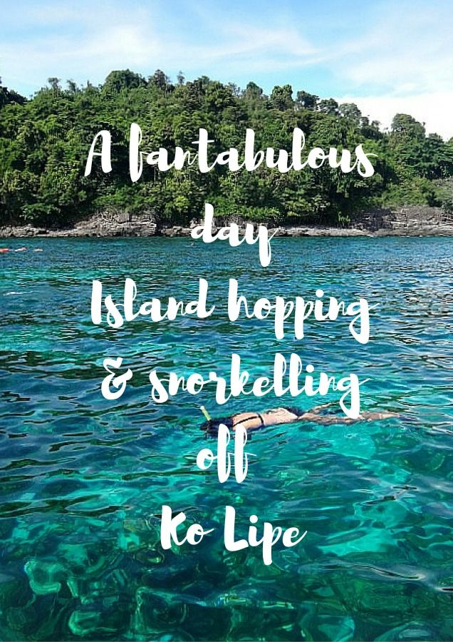 A fantabulous day Island hopping & snorkelling off Ko Lipe via The World on my Necklace