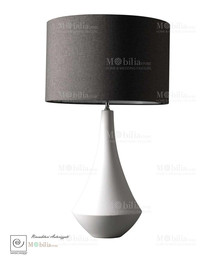 Lampada moderna mascagni in finissima ceramica bianca con paralume in tessuto spedizione immediata scopri ceramica biancatable lamp