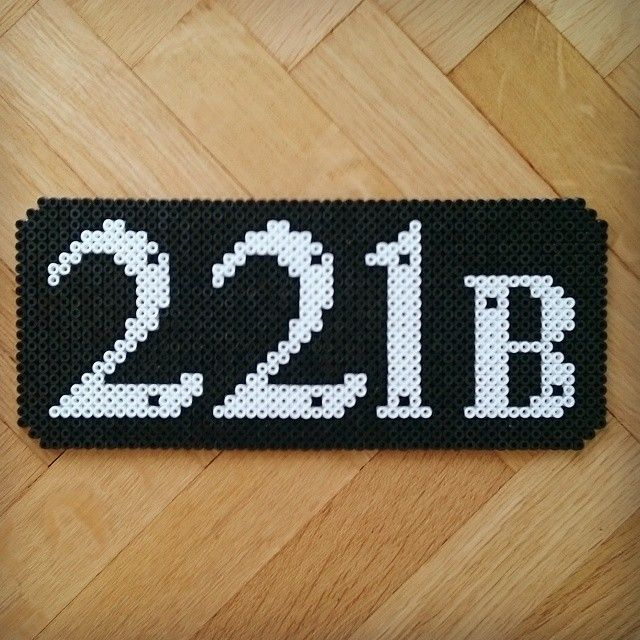 221B Baker Street perler beads by Thea IMYBY
