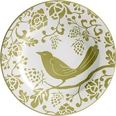 Green Bird Plate: Decoration, Color