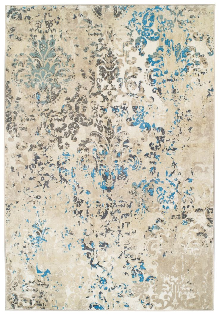 Premium High Quality Rug Large Rugs For Dining Rooms 8 by 11 Blue Beige Brown Cream 8x10 Area Rugs