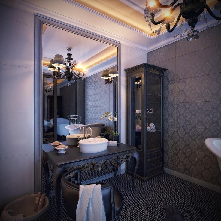 3D visualization and design: Интерьер спальни побежденная в номинации лучший дизайн интерьера в классическом и ар-деко стиле