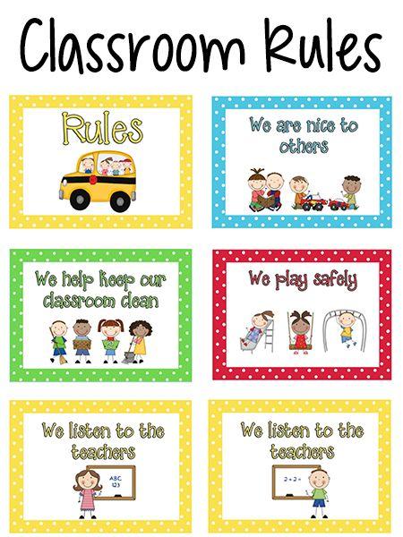Pre-K przepisami klasowymi Plakaty w kolorach podstawowych