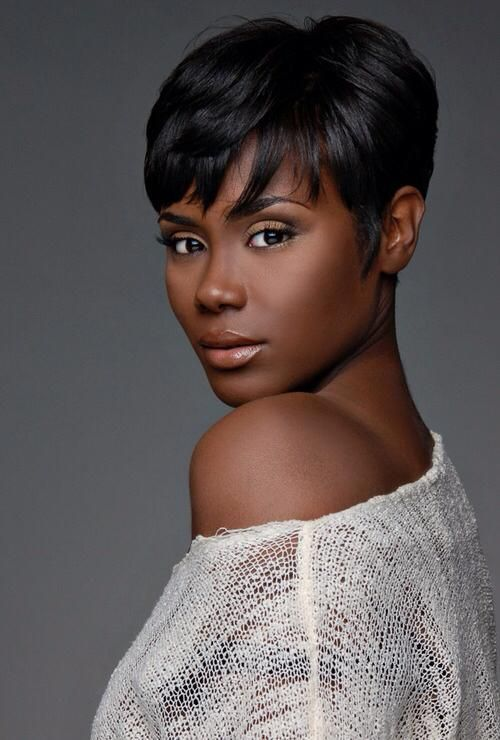 Short Black Hairstyles With Bangs 85 Best Short Hairstyles Images On Pinterest  Short Cuts Short