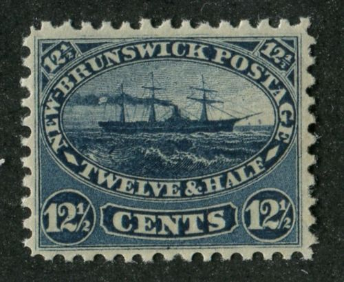 New-Brunswick-10-12-5c-Deep-Blue-Cents-Issue-Steamship-VF-75-NH