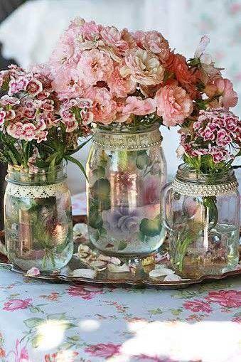 beautiful shabby chic flowers