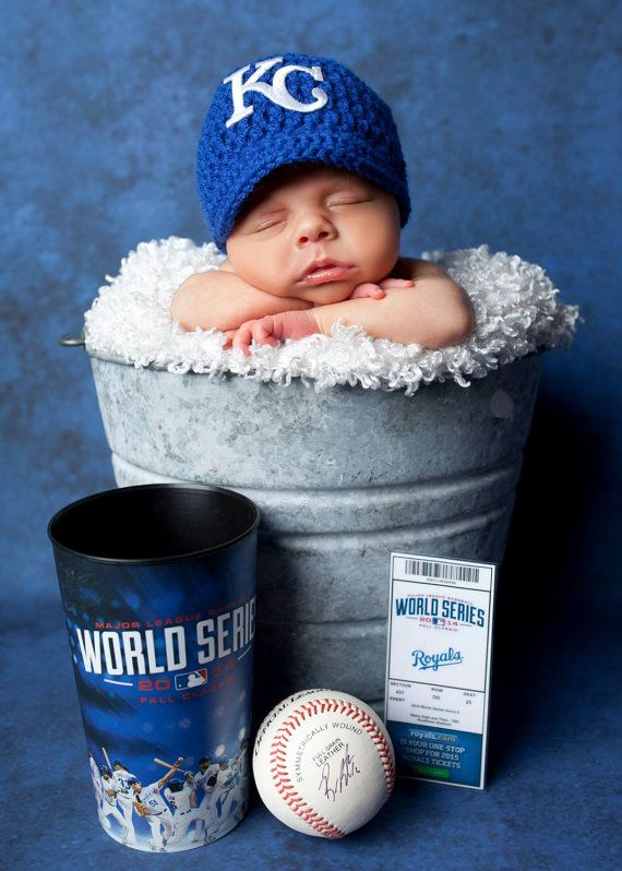 Crochet Kansas City Royals Hat  Photo Prop  by LovableLids on Etsy