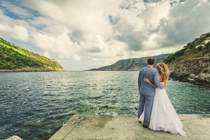 Love this shot!!! A combination of green, blue and gray... Sea , mountains, sky!!!! #wedding #photos #weddingingreece #kefalonia