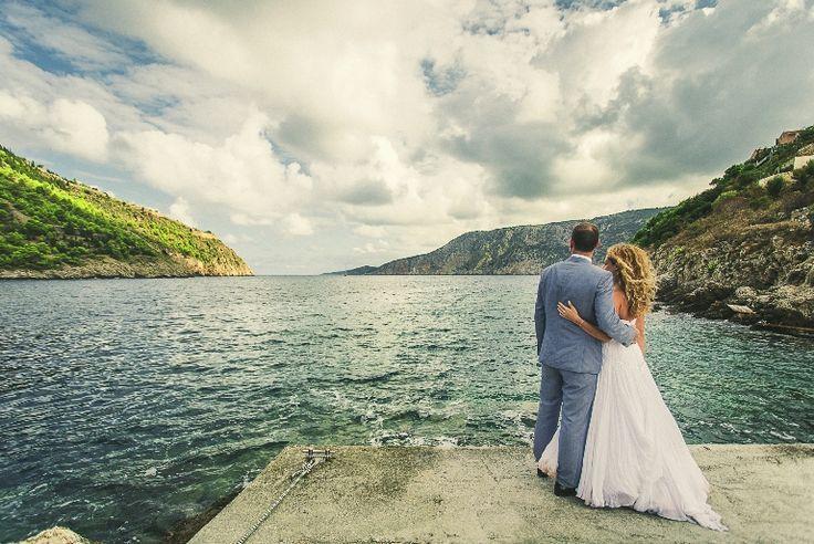Love this shot!!! A combination of green, blue and gray... Sea , mountains, sky!!!! #wedding #photos #weddingingreece #kefalonia