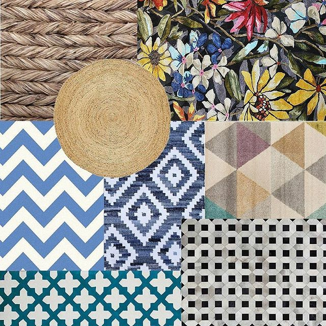 Feeling floored?  We've got you covered Padders!  Check out our cool range of rugs to cover your floor!  Link in profile.  From left: Cebu Rug, Romance Handtufted Rug, Coir Round Rug, Botticelli Chevron Rug, Blue Flat Weave Cotton Rug, Accent 15103 Rug, E