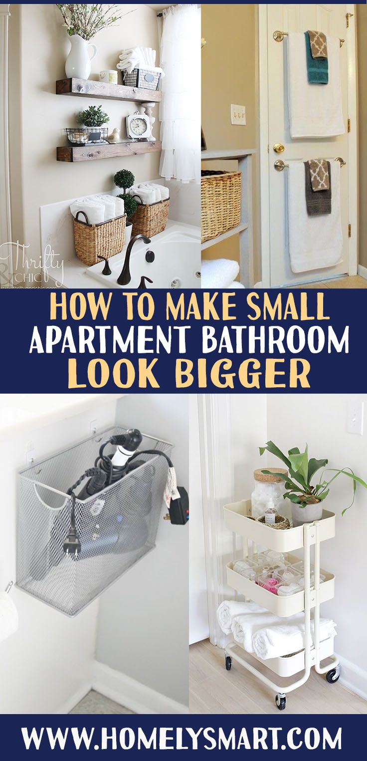 How To Make A Small Apartment Bathroom Look Bigger Homelysmart Small Apartment Bathroom Apartment Bathroom Small Apartments