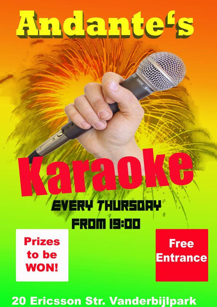 Karaoke every Thursday at Andante's.