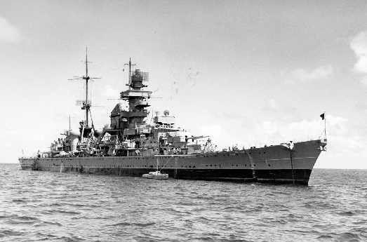 Prinz Eugen kurz vor Atomtest