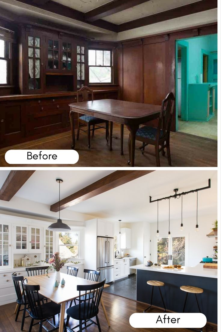 This Craftsman House Got An Incredible Before And After Makeover With The  Help Of An Interior Designer. With Fresh Paint, New Floors, Appliances And  A ...