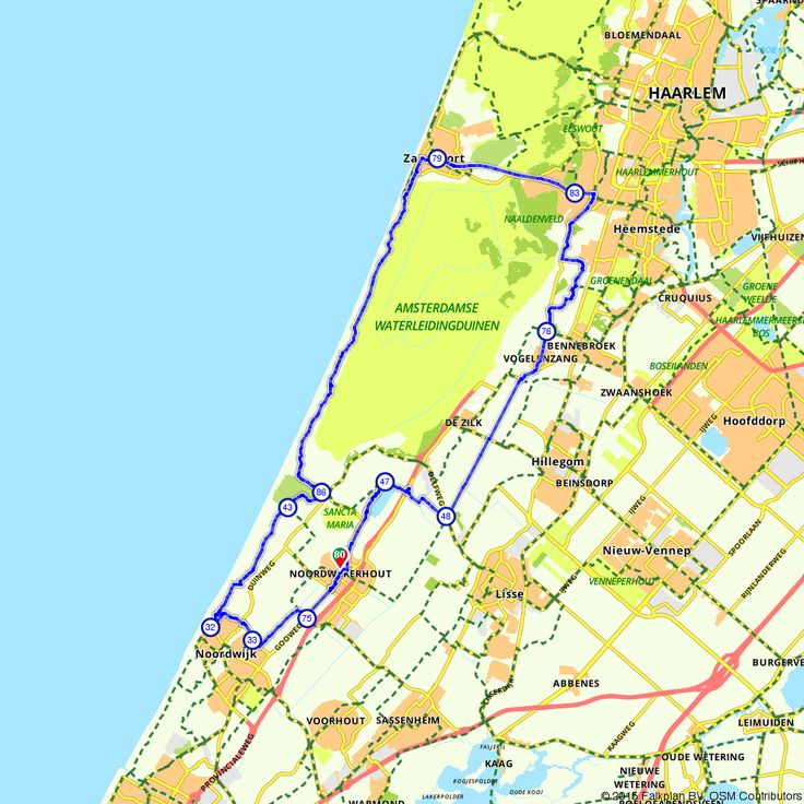 Fietsroute Schone Duinenroute voor een gezellig dagje uit. (http://www.route.nl/fietsroute/193316/schone-duinenroute)