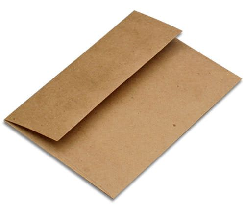 "6 1/2"" Square Kraft Brown Recycled Envelopes"