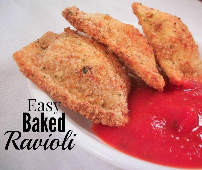 Easy Oven Baked Ravioli | Saving 4 Six