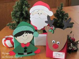 Ribbons & Glue: Santa and Friends Christmas Treat Bags.......