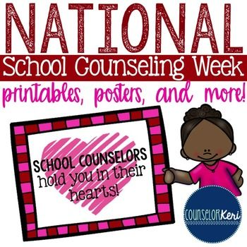National School Counseling Week Printables -... by Counselor Keri | Teachers Pay Teachers