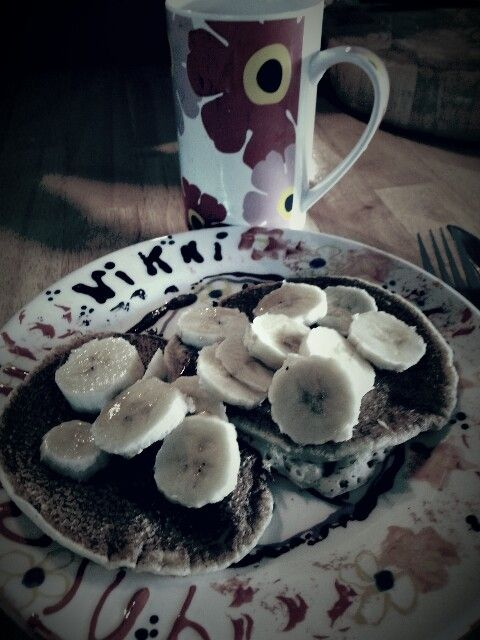 Every Sunday is Pancake Sunday :D.. Gluten free and made with love, thanks Hubby xx