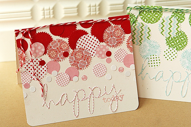 love the circles! what a great way to use scraps!