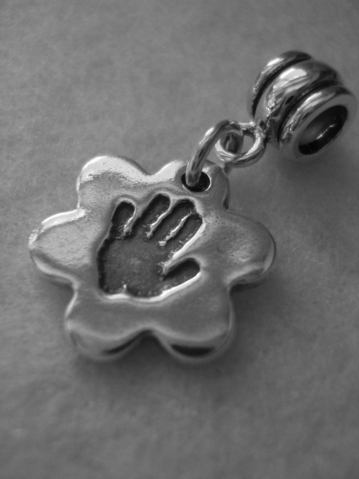 Flower 'Pandora' handprint charm